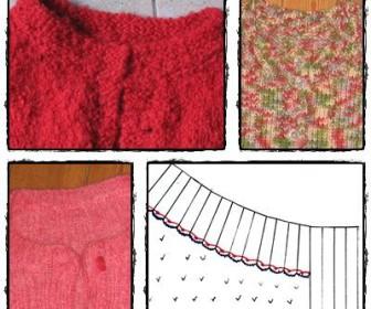 comment coudre bande boutonnage tricot