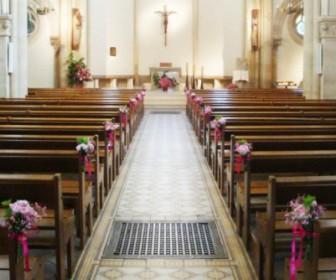 comment décorer l'église pour son mariage