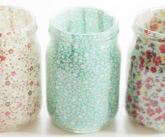 comment décorer petit pot en verre