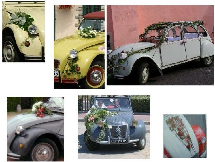 comment d corer une 2cv pour un mariage. Black Bedroom Furniture Sets. Home Design Ideas