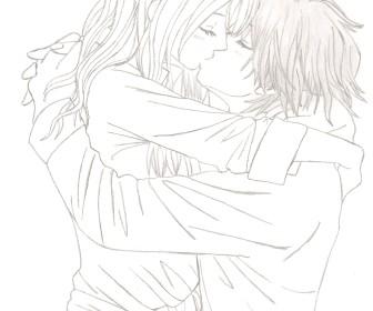 comment dessiner 2 personne qui s'embrasse