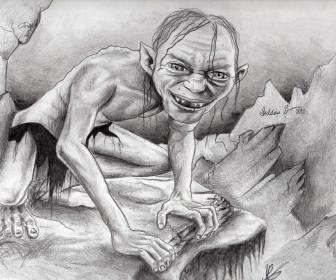 comment dessiner gollum