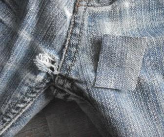 comment réparer trou dans jeans