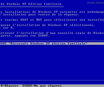 comment réparer windows xp