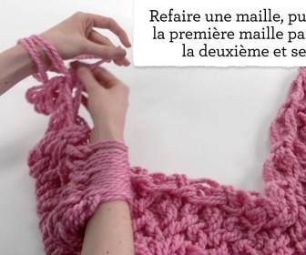 comment tricoter avec les bras