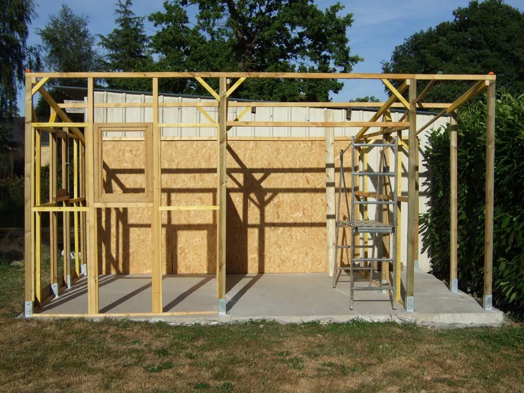 Comment construire abris de jardin en bois - Plan abris de jardin ossature bois ...