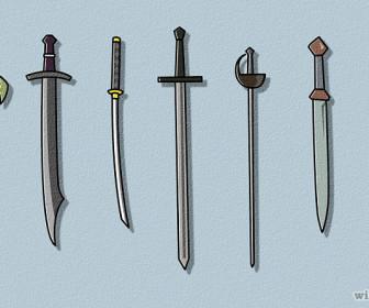comment dessiner épée