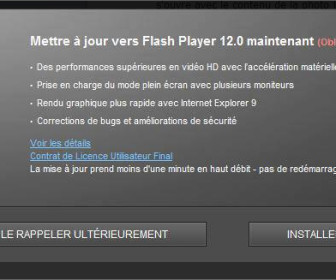 comment mettre 0 jour flash player