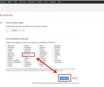 comment mettre i google en francais