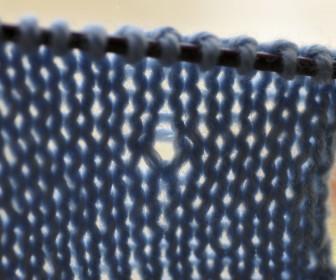 comment réparer trou tricot