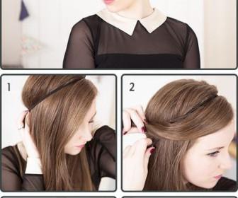 comment se coiffer simplement
