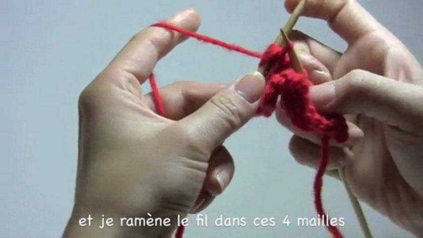 comment tricoter 4 mailles ensemble
