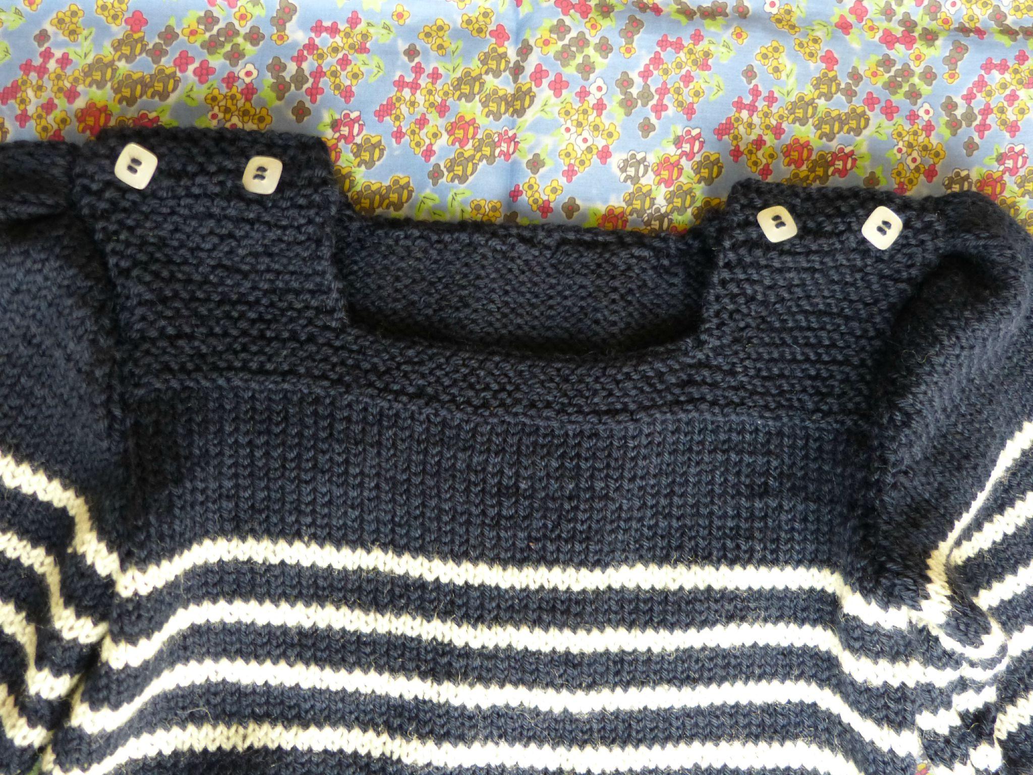 tricoter 6 mailles ensemble