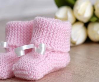 comment tricoter chausson pour bébé