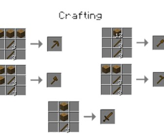 comment construire outils minecraft