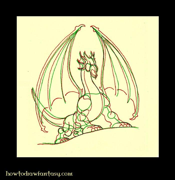 Comment dessiner 1 dragon - Dessiner dragon ...