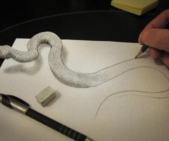 comment dessiner 3d anamorphic