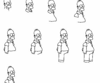 Comment dessiner homer - Comment dessiner les simpson ...