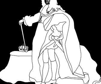 comment dessiner louis xiv