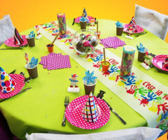 comment décorer table anniversaire