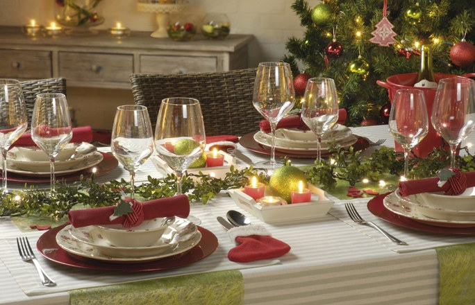 comment d corer table de noel