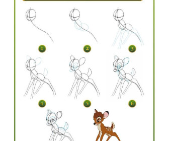 comment dessiner bambi