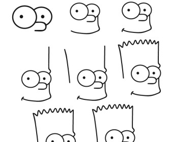 Comment dessiner bart - Comment faire bart simpson ...