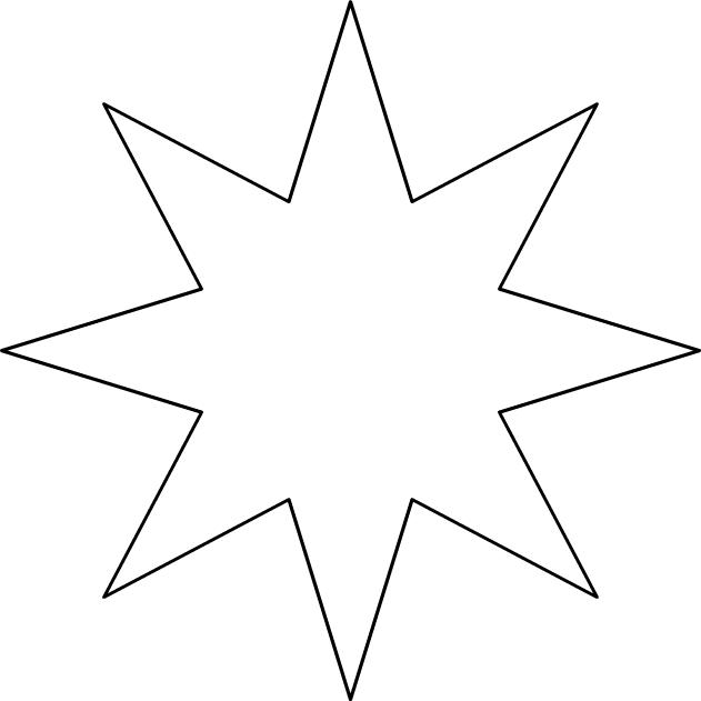 Comment dessiner etoile 8 branches - Etoiles de noel a imprimer ...