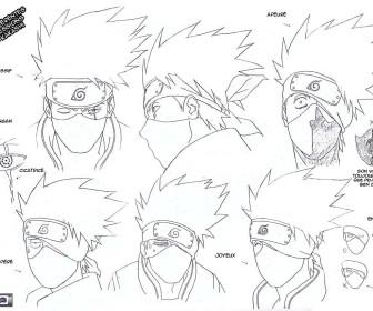 comment dessiner kakashi facilement