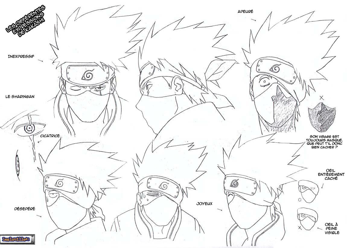 Comment dessiner kakashi facilement - Comment dessiner un diable facilement ...