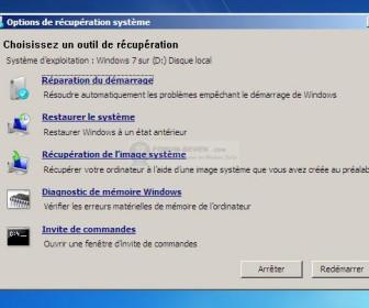 comment réparer le démarrage de windows 7