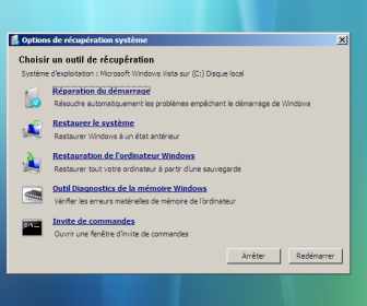 comment réparer windows 7 avec cd