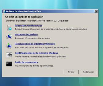 comment réparer windows 7 avec cd