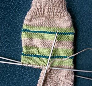 comment tricoter talon chaussette