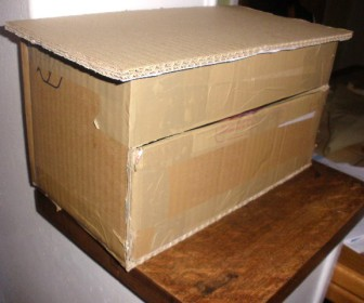 comment décorer boite en carton