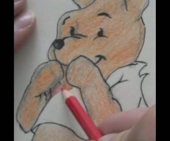 comment dessiner winnie l'ourson sur un mur