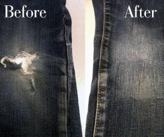 comment réparer jean troué genou