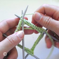 Comment tricoter rond avec 3 aiguilles - Comment tricoter avec des aiguilles circulaires ...